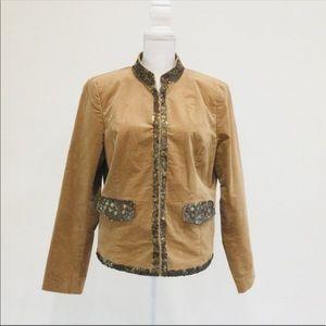 ⭐️ Michael Kors Jacket with Sequins Suede Jacket